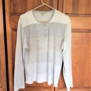 Mens Grey tone Clavin Klein Henley Large Like New
